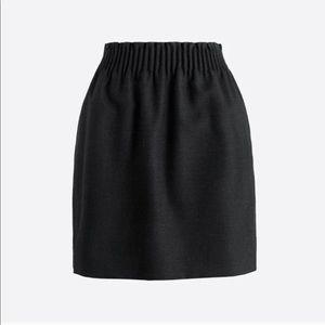J Crew black sidewalk skirt